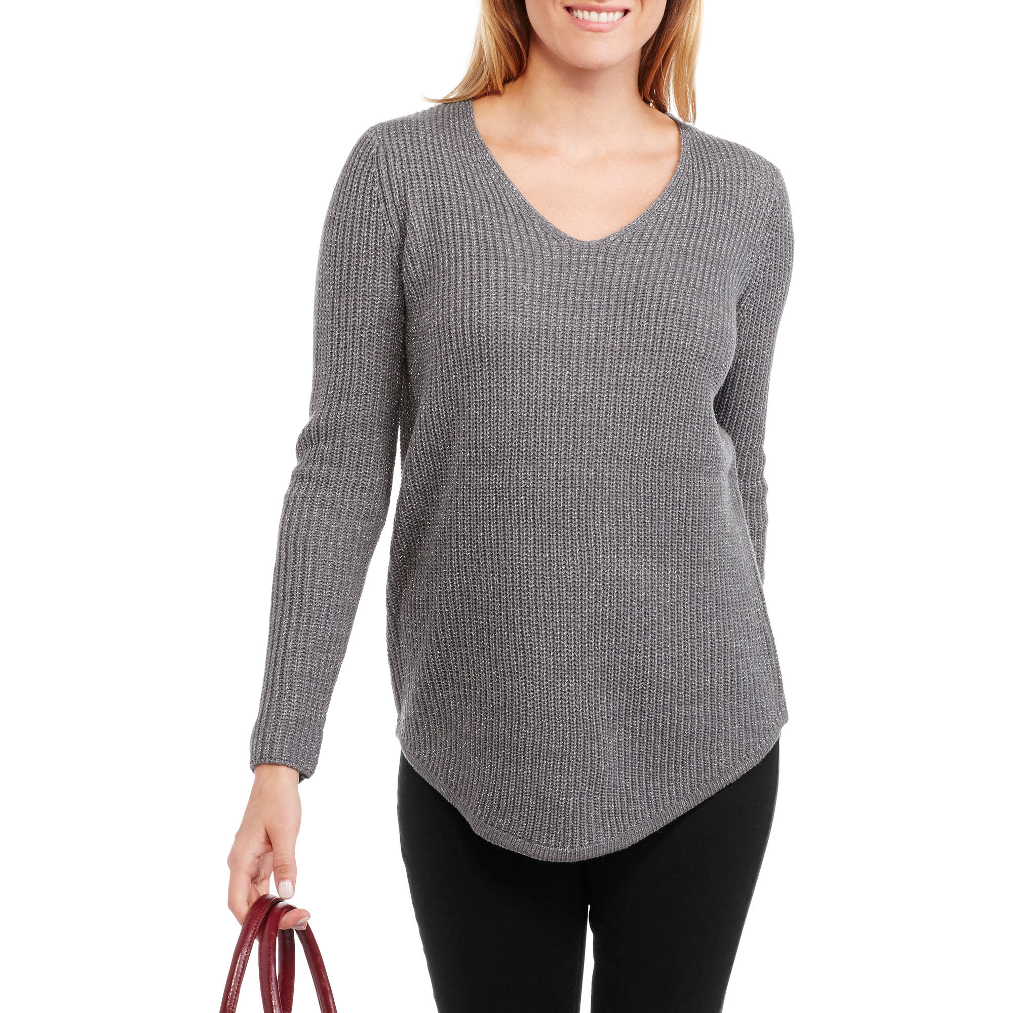 Faded Glory Women's Metallic Shaker Tunic Sweater