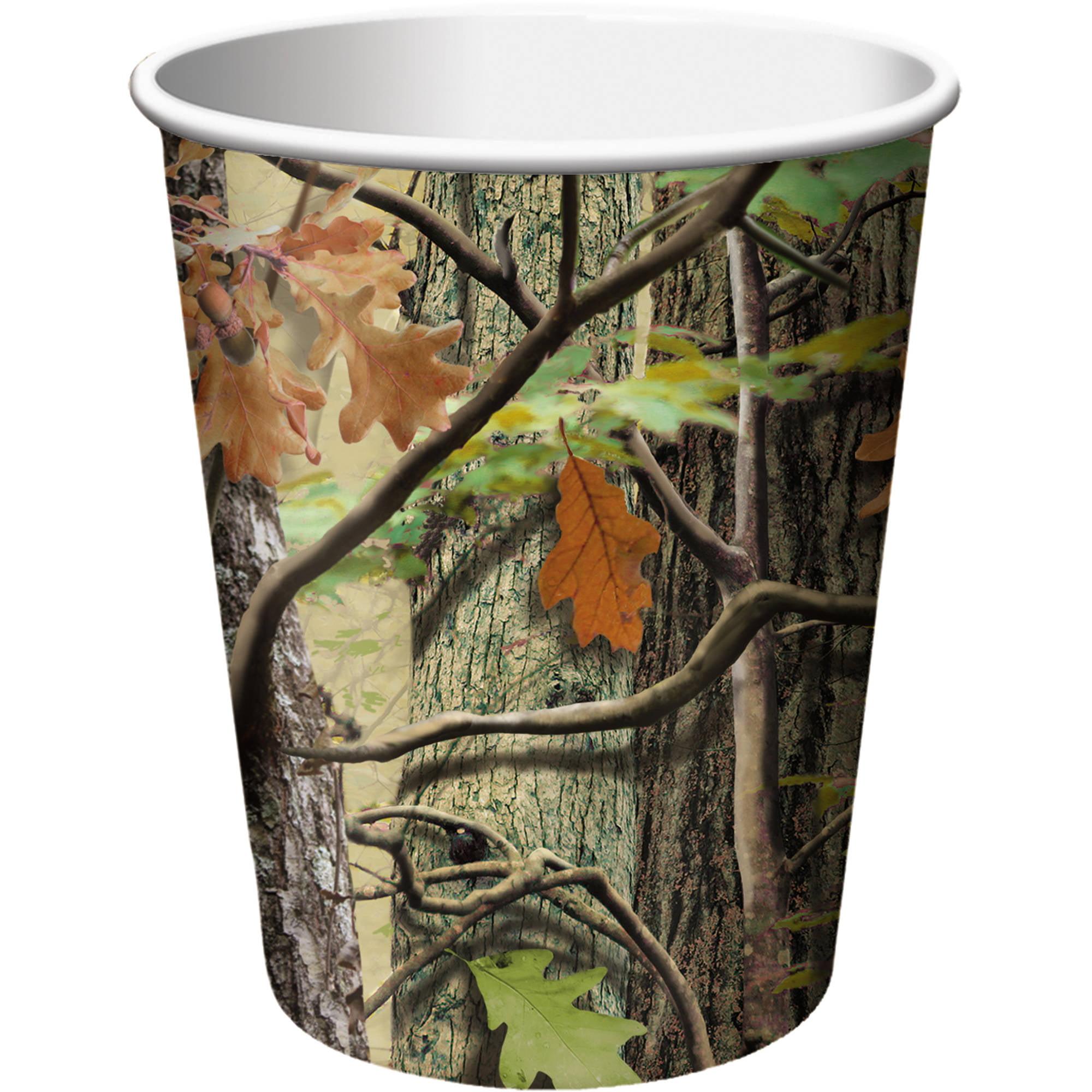 Hunting Camo 9 oz Cups, 8pk