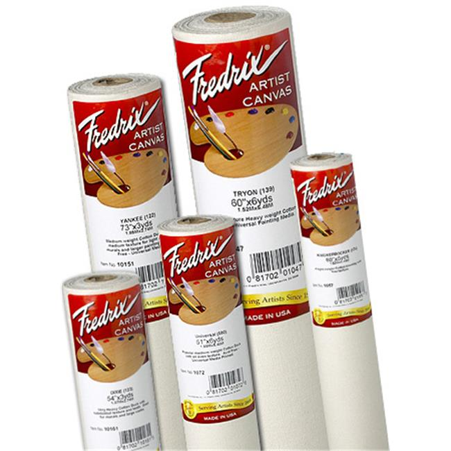 Fredrix T10221 96 inch x 3 yards Acrylic Primed Cotton Canvas Roll