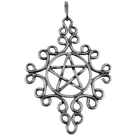 Sterling Silver Pentacle Charm Holder Pendant Wicca