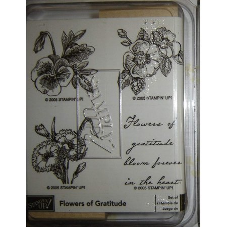 Stampin' Up! Flowers of Gratitude Wood Mounted Rubber Stamps (Set of 4), 2005 By Stampin - Stampin Up Halloween Stamp Sets