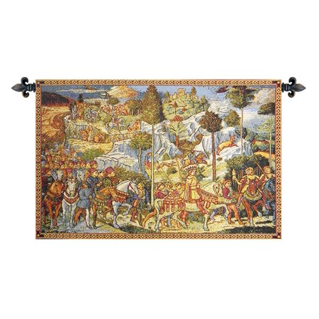 Chapel of the Magi Florence Italian Wall Hanging C - H 12 x W 19 Wall Tapestry