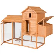 "Best Chicken Coops - Best Choice Products 80"" Wooden Chicken Coop Backyard Review"