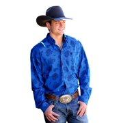 Cinch Western Shirt Mens Long Sleeve Button Necktape Royal MTW1104213