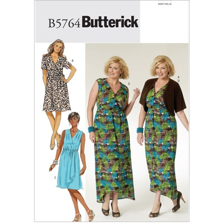 Butterick Pattern Women's Shrug, Dress and Belt, KK (26W, 28W, 30W, 32W) - Dress And Shrug
