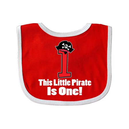 1st Birthday Hat And Bib (1st Birthday Outfit Pirate Hat Number 1 Baby)