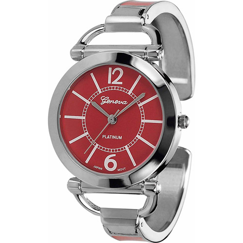 Brinley Co. Women's Color Block Cuff Watch, Stainless Steel