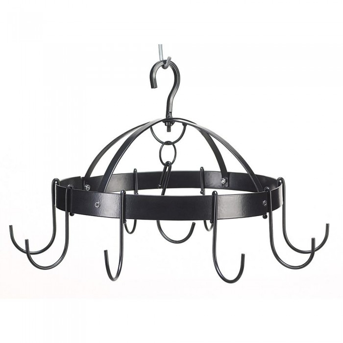 Pot And Pan Hanging Rack, Hanging Pot Rack Black, Overhead Mini Round Pot  Hanger (Sold by Case, Pack of 6) - Walmart.com