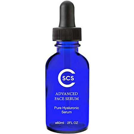 CSCS 100% Pure Hyaluronic Acid Serum - Best Anti Aging Hydrating Moisturizer for Face and Eyes - Reduces & Plumps Fine Lines and Wrinkles While Brightening and Firming Skin - Paraben, Vegan Free, 2