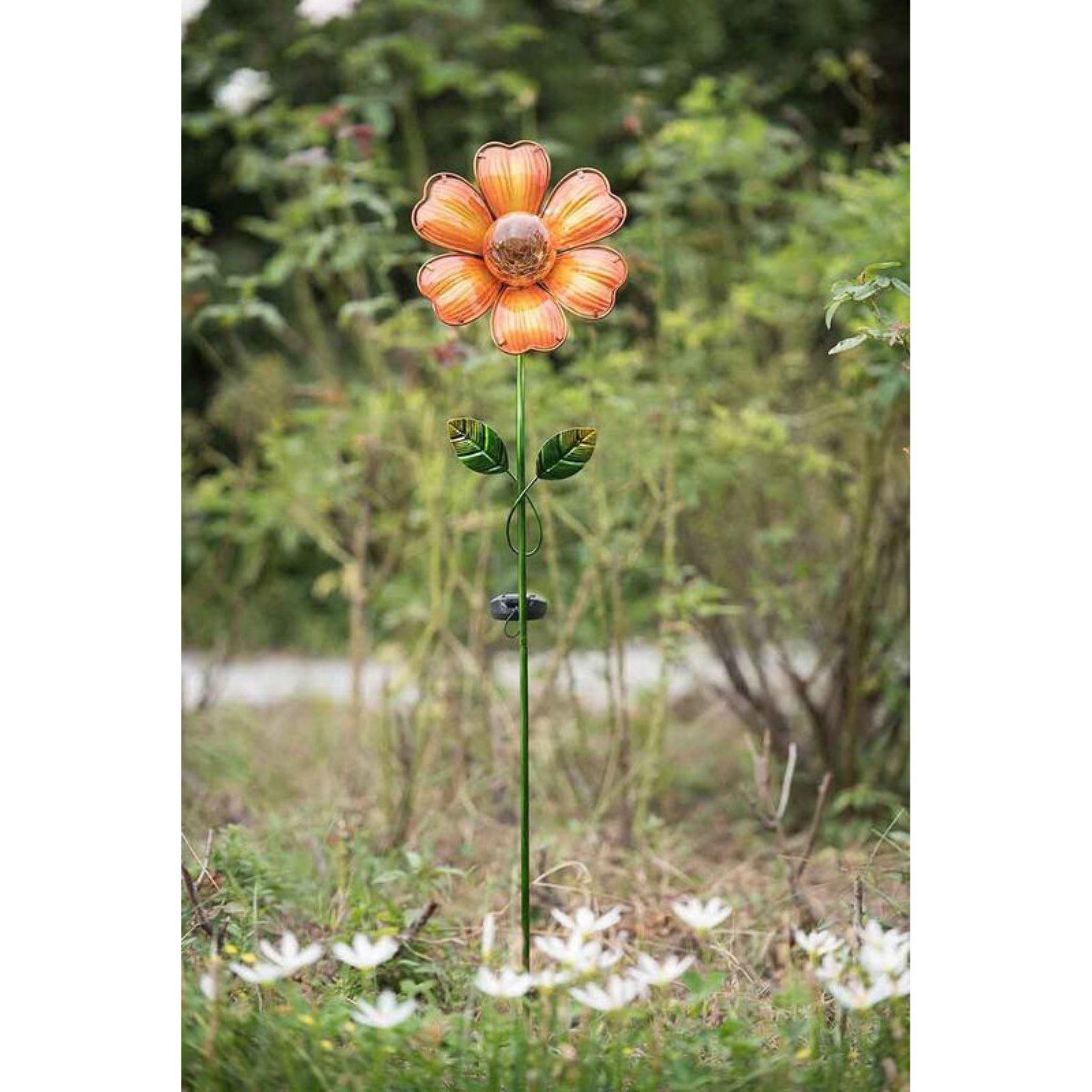 Sunjoy LED Solar Glass Flower Garden Stake by Sunjoy