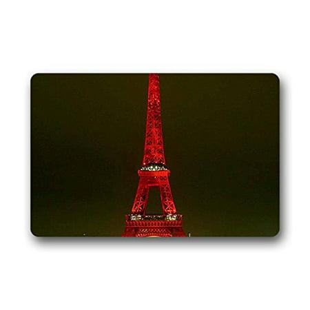 RYLABLUE Paris Eiffel Tower Doormat Floor Mats Rugs Outdoors/Indoor Doormat Size 30x18 inches - image 1 de 1