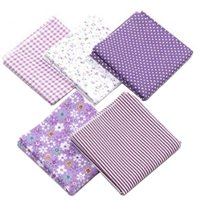 5-Piece Cotton Cloth Sewing Patchwork DIY Clothing Sewing Craft Fabric 50x50cm