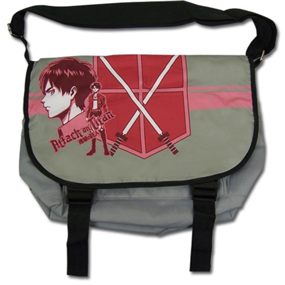 Attack On Titan Eren Reb Anime Messenger Bag