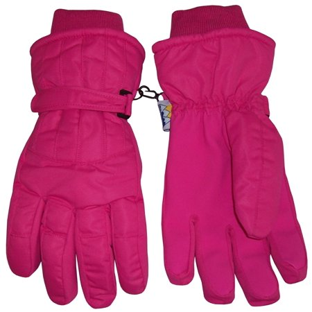 NICE CAPS Womens Ladies Adults Cold Weather Thinsulate Waterproof Ridges Winter Ski Snow - Black Lighting Gloves