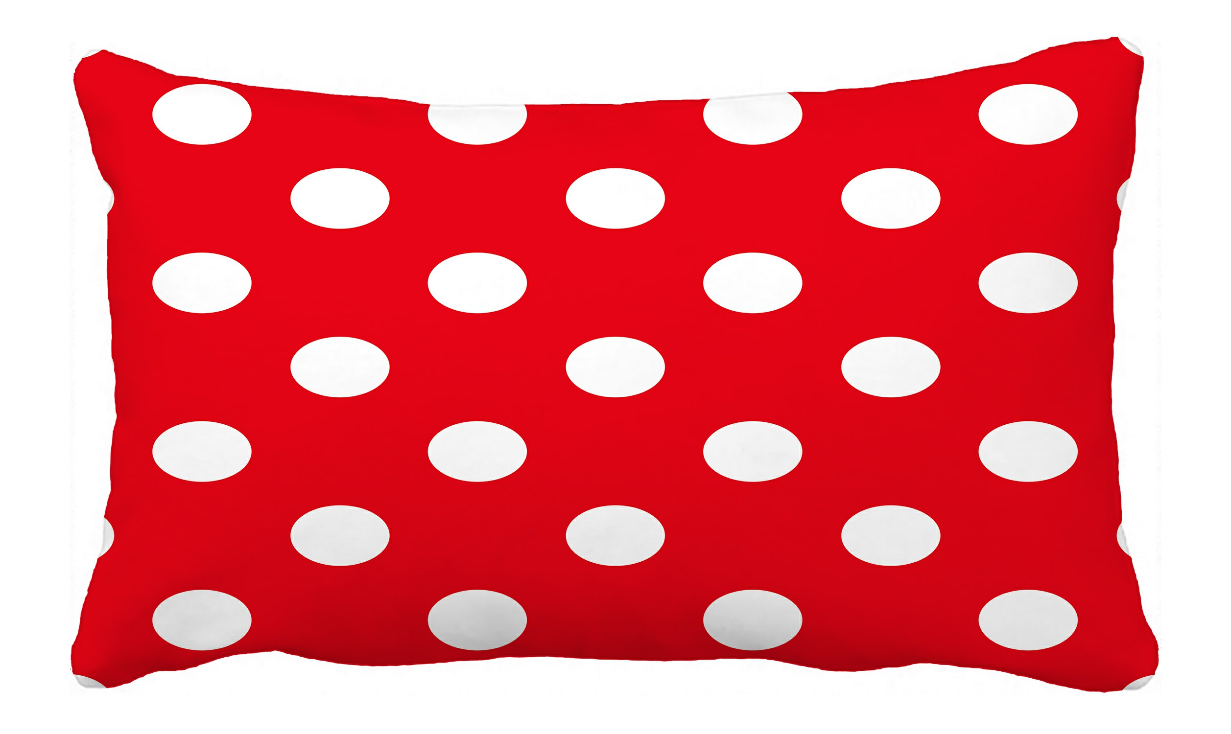 Abphqto Red Polka Dot Pillow Case Pillow Cover Pillow Protector Two Sides For Couch Bed 20x30 Inch Walmart Com Walmart Com