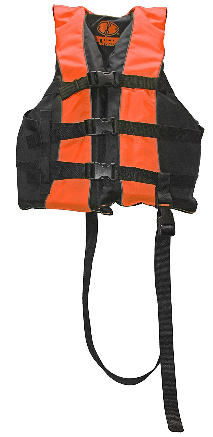 High Visibility Adult & Kids Life Jacket PFD USCG Type III Ski Vest w  Leg Strap, 4 Adjustable straps allows vest to... by