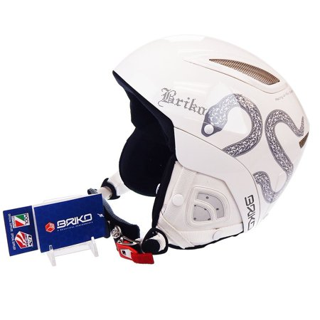 Briko Dakota Bluetooth Ready White Snake Ski Helmet Size: