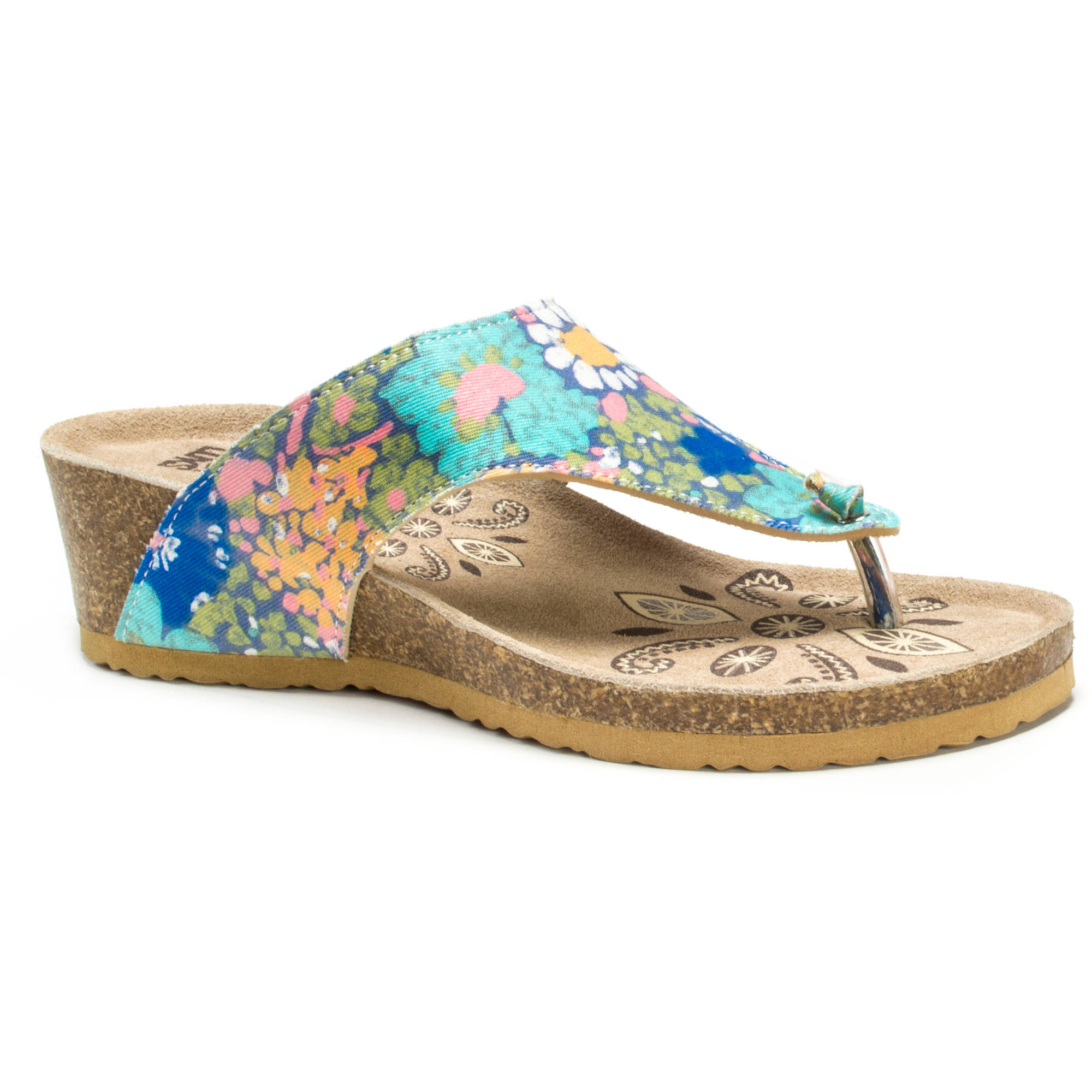 MUK LUKS Women's Sue Ellen Wedge Sandals