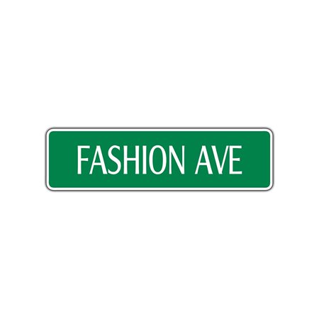 Fashion Ave Aluminum Metal Street Sign New York City Manhattan Wall Art Décor 4x13.5](Party City Central Ave)