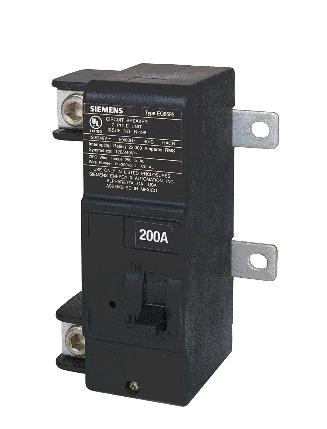 Siemens Mbk200a 200 Amp Main Circuit Breaker For Use In Ultimate Outdoor Service Panel Wiring Diagram Type Load Centers