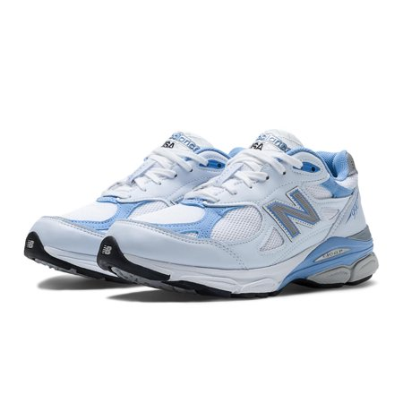 New Balance W990WB3 Women's Everyday Running Shoes, White with Blithe & Grey