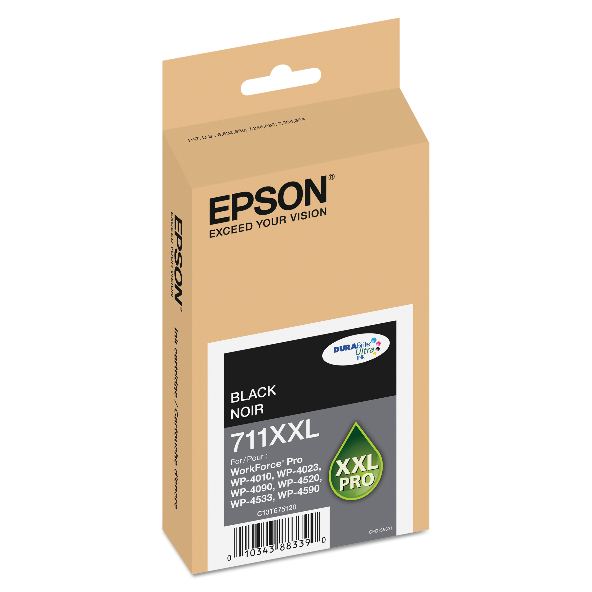 Epson T711XXL120 (711XL) DURABrite Ultra High-Yield Ink, Black by Epson