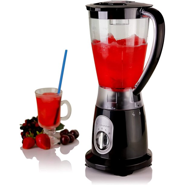 Ovente Electric Professional 50 Ounce Countertop Blender For Frozen Drinks Shakes Smoothies 400 Watt Bpa Free Juice Mixer Ice Crusher With Stainless Steel Blades Removable Top Cap Black Blh1602b Walmart Com