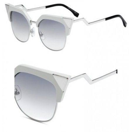 a91da8836e624 FENDI - FENDI 0149 S 0TLY- EK Off white Cat eye Sunglasses - Walmart.com