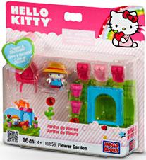 Mega Bloks Hello Kitty Create & Decorate Flower Garden Set #10858 by