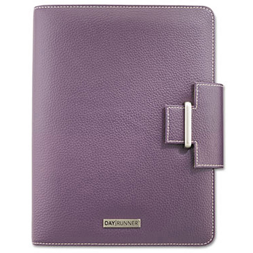 "Day Runner Express Terramo Refillable Planner, 5-1/2"" x 8-1/2"", Eggplant"