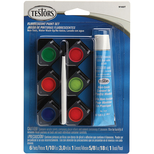 Testors Fluorescent Acrylic Paint Set