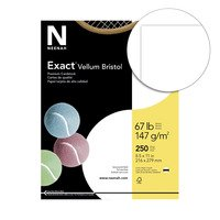 Dust Vellum (Exact Vellum Bristol Cardstock, 8-1/2 x 11 Inches, 67 lb, White, Pack of 250)
