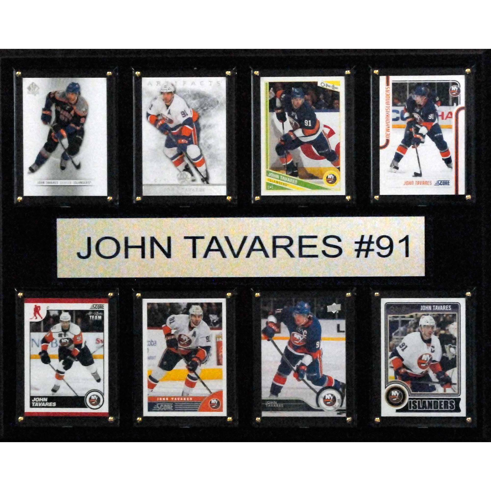 C&I Collectables NHL 12x15 John Tavares New York Islanders 8-Card Plaque
