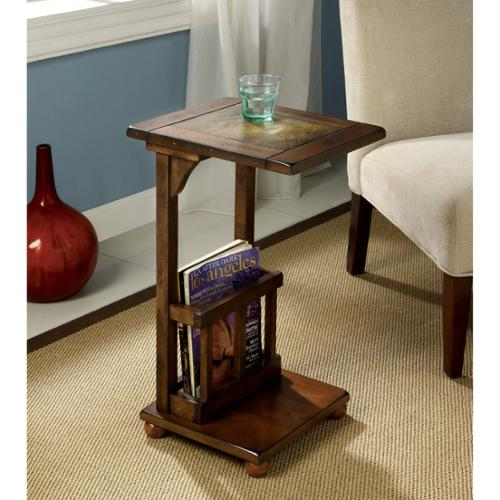 Furniture of America Slimming Sissy Magazine Rack End Table by Overstock