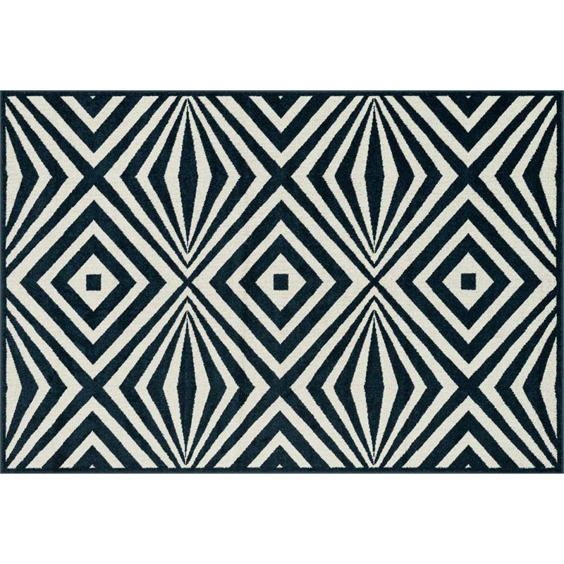 Loloi Catalina Indoor / Outdoor Rug - Navy / Ivory