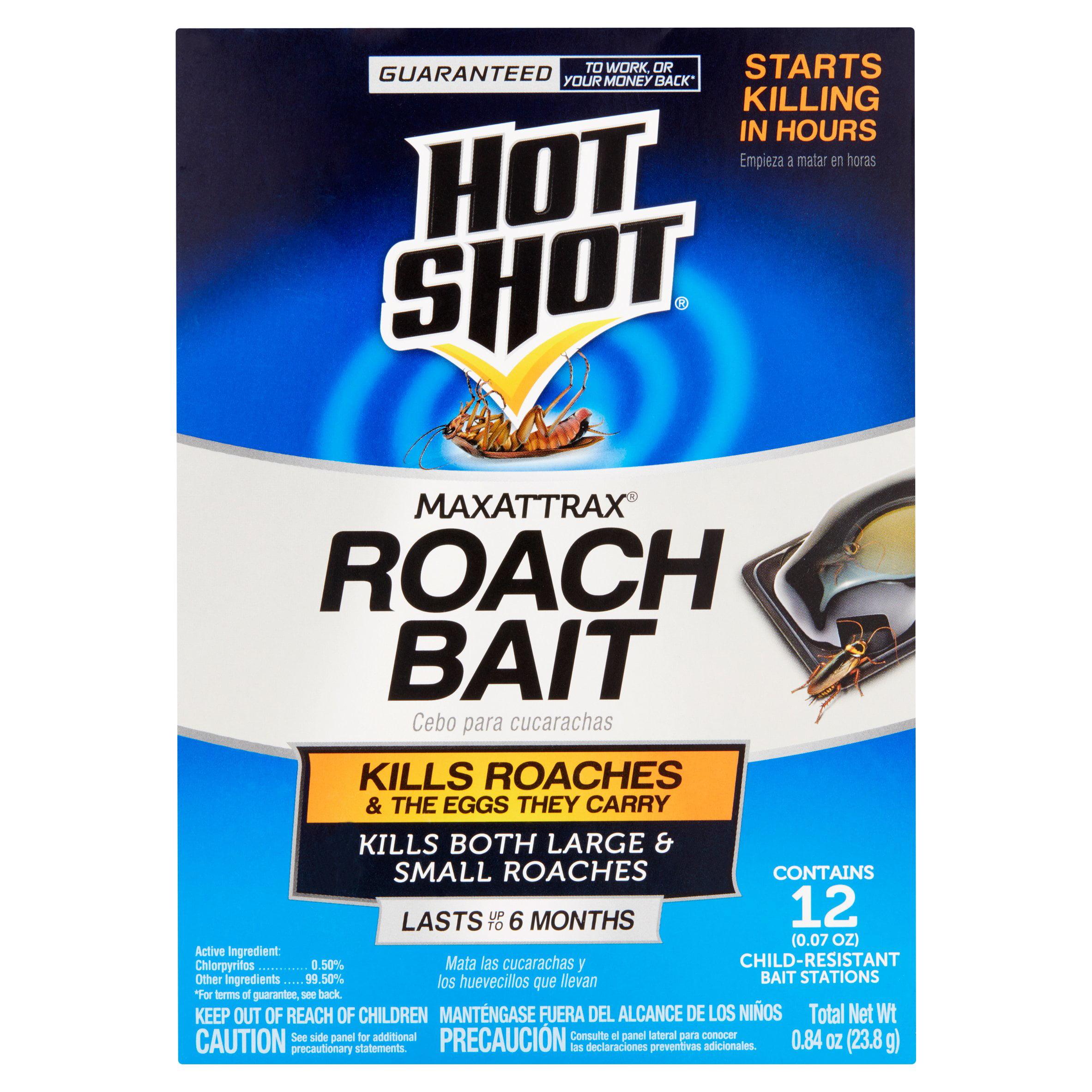 Hot Shot MaxAttrax Roach Bait, 12-Count, 0.84-Ounce - Walmart.com
