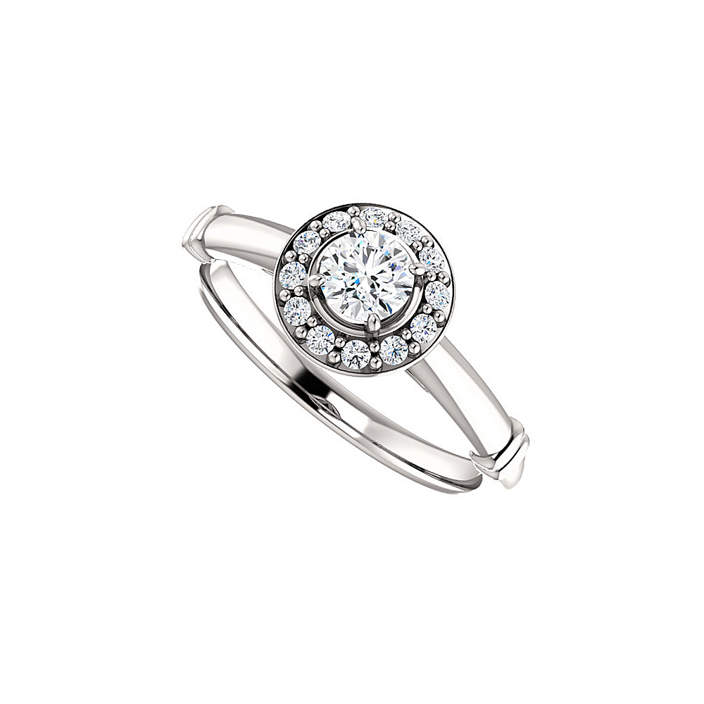 Cubic Zirconia Halo Style Ring in 925 Sterling Silver - image 2 of 2