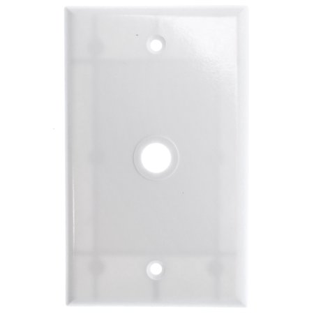 Cooper Wiring 2128W-Box 1 Gang Coax Or Telephone Wire Wallplate White (Pack Of 25) (Double Gang Coax Wall Plate)