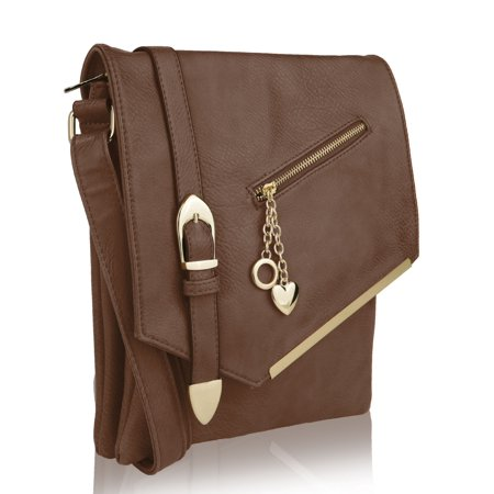 MKF Collection Jasmine Crossbody Shoulder Bag by Mia K. (Khaki Cam Bag)