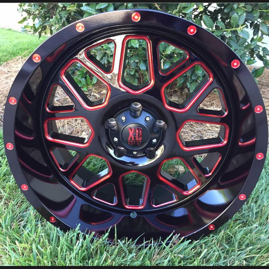 KMC-XD Wheels XD82029068918RC XDWXD82029068918RC GRENADE 20X9 6X5.5 BLACK (18 MM)