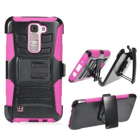Phone Case for Straight Talk LG Treasure / LG K7 (T-Mobile) / LG Phoenix 2 GoPhone (AT&T) / LG Escape 3 LTE (Cricket) / LG Tributed 5 LTE Combo Holster - Edge Escape