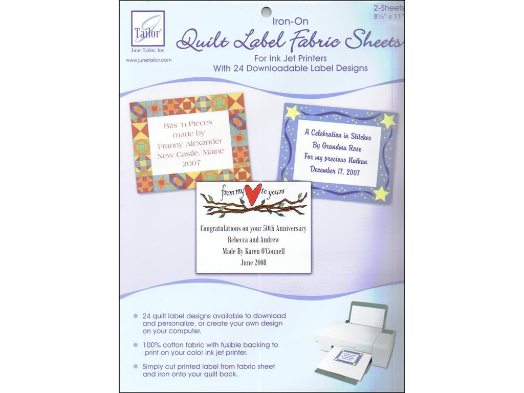 June Tailor Quilt Label Fusible Fabric Sheets other