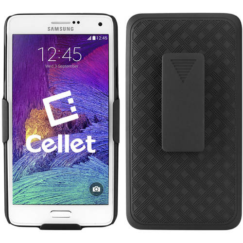 Cellet Shell + Holster + Kickstand Combo Case with Belt Clip for Samsung Galaxy Note 4