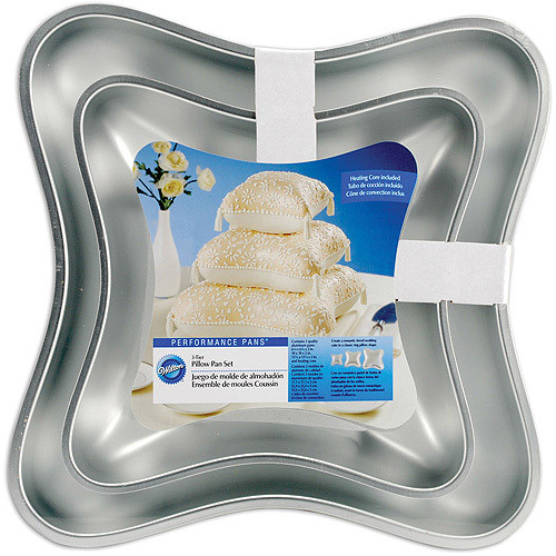 Wilton Performance Pans Cake Pan, Pillow 3 ct. 2105-0575
