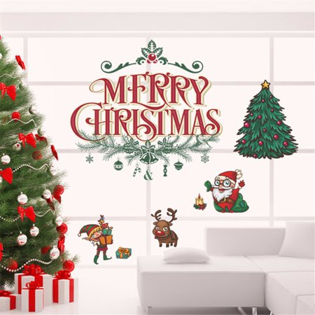 - Mosunx 2018 Merry Christmas Household Room Wall Sticker Mural Decor Decal Removable
