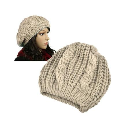 (Zodaca Womens Beanie Hat Winter Warm Crochet Ball Girl Woman Lady Cap Hat Soft Knit High Quality Stylish Headwear)