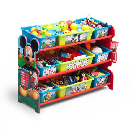 Disney Mickey Mouse Plastic 9 Bin Toy Organizer by Delta Children - Mickey Mouse Room Ideas