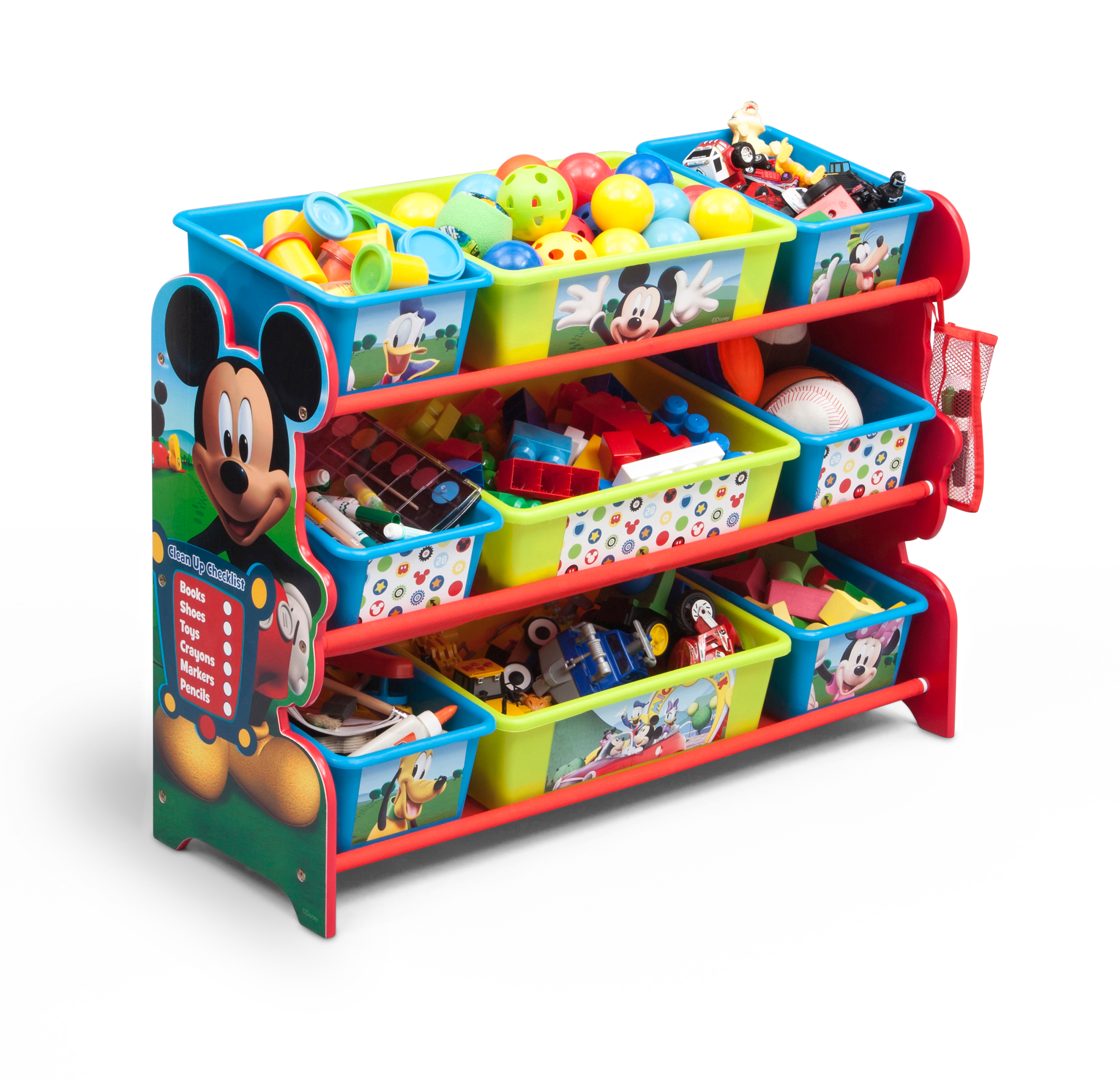 Disney Mickey Mouse Plastic 9 Bin Toy Organizer by Delta Children