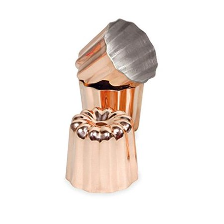 Paderno World Cuisine 15415-03 Tin Canele Mold, Copper - Set of