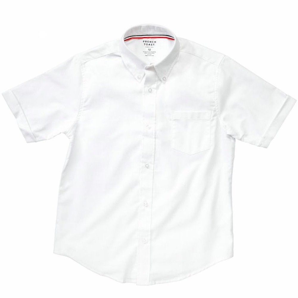French Toast Boy's Short Sleeve Oxford Uniform White Button Up ...
